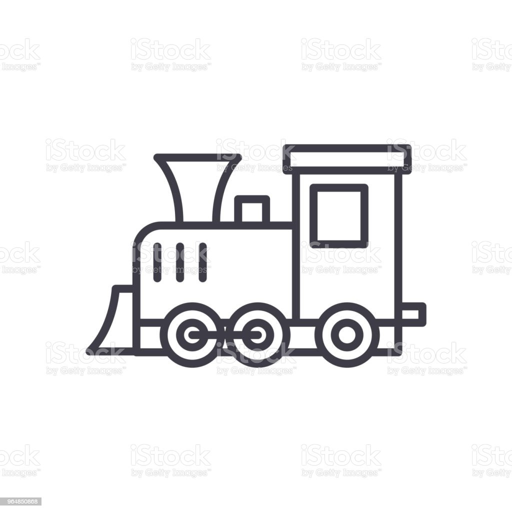 Playing locomotive black icon concept. Playing locomotive flat  vector symbol, sign, illustration. royalty-free playing locomotive black icon concept playing locomotive flat vector symbol sign illustration stock vector art & more images of ball