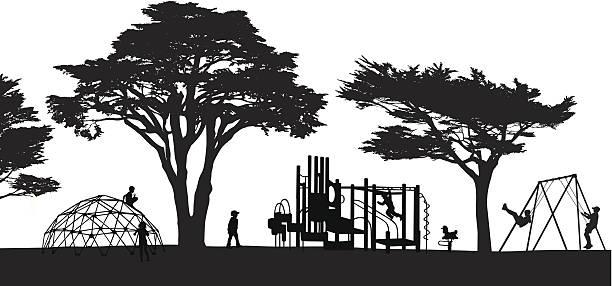 playland - monkey bars stock illustrations, clip art, cartoons, & icons