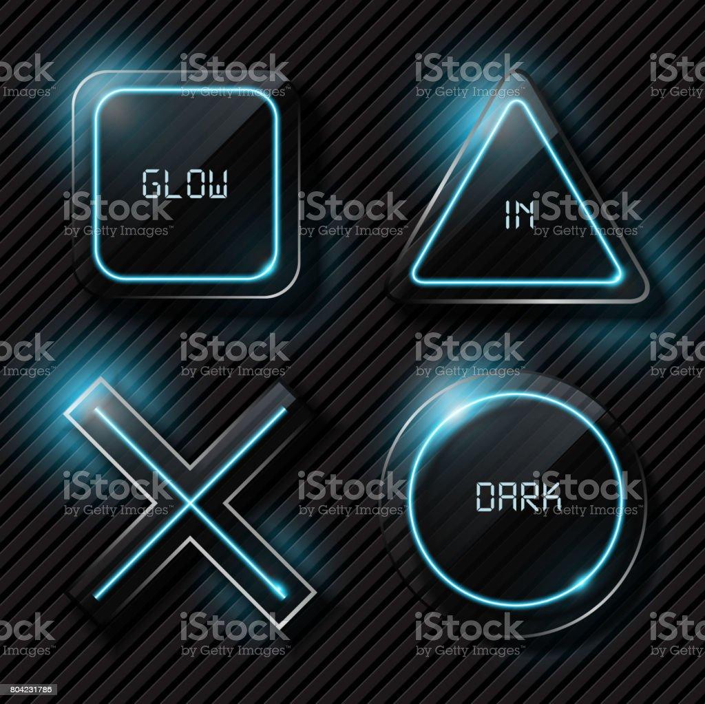 Playstation symbol on dark glass stock vector art more images of playstation symbol on dark glass royalty free playstation symbol on dark glass stock vector art buycottarizona