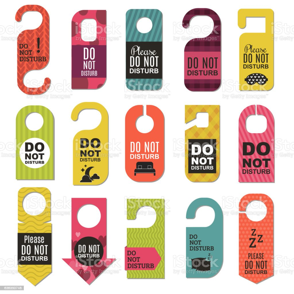 Please do not disturb hotel design vector art illustration