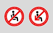 istock Please do not sit here. Practise physical distancing to stop covid-19. An awareness message to promote social distancing in sitting areas. 1225154576