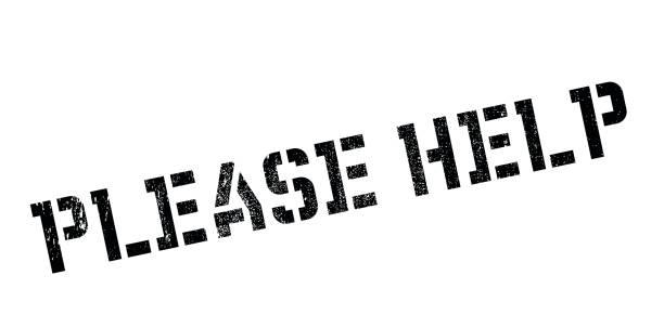 bitte helfen sie stempel - schwarzwald stock-grafiken, -clipart, -cartoons und -symbole
