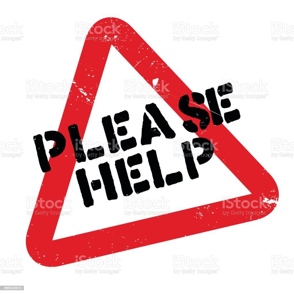 Bitte Helfen Sie Stempel Stock Vektor Art und mehr Bilder von ...