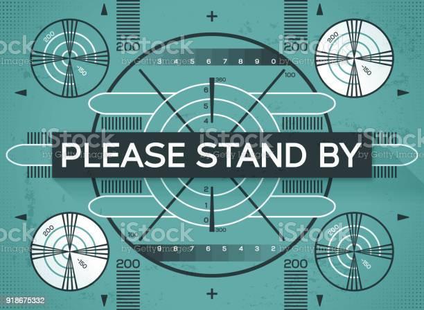 Gelieve Te Staan Door Test Scherm Stockvectorkunst en meer beelden van Achtergrond - Thema