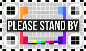 Please stand by color television error screen.