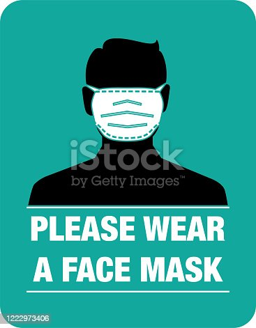 face mask, instruction, vector