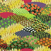 Plenteous Fields Seamless Pattern. Harvest background.
