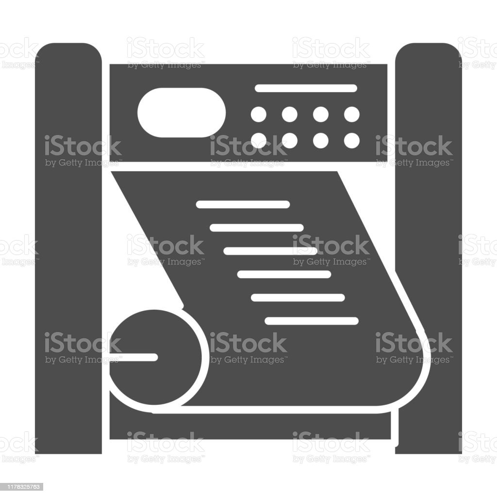 plotter printing solid icon large format printer vector illustration isolated on white printing device glyph style design designed for web and app eps 10 stock illustration download image now istock https www istockphoto com vector plotter printing solid icon large format printer vector illustration isolated on gm1178325763 329296698