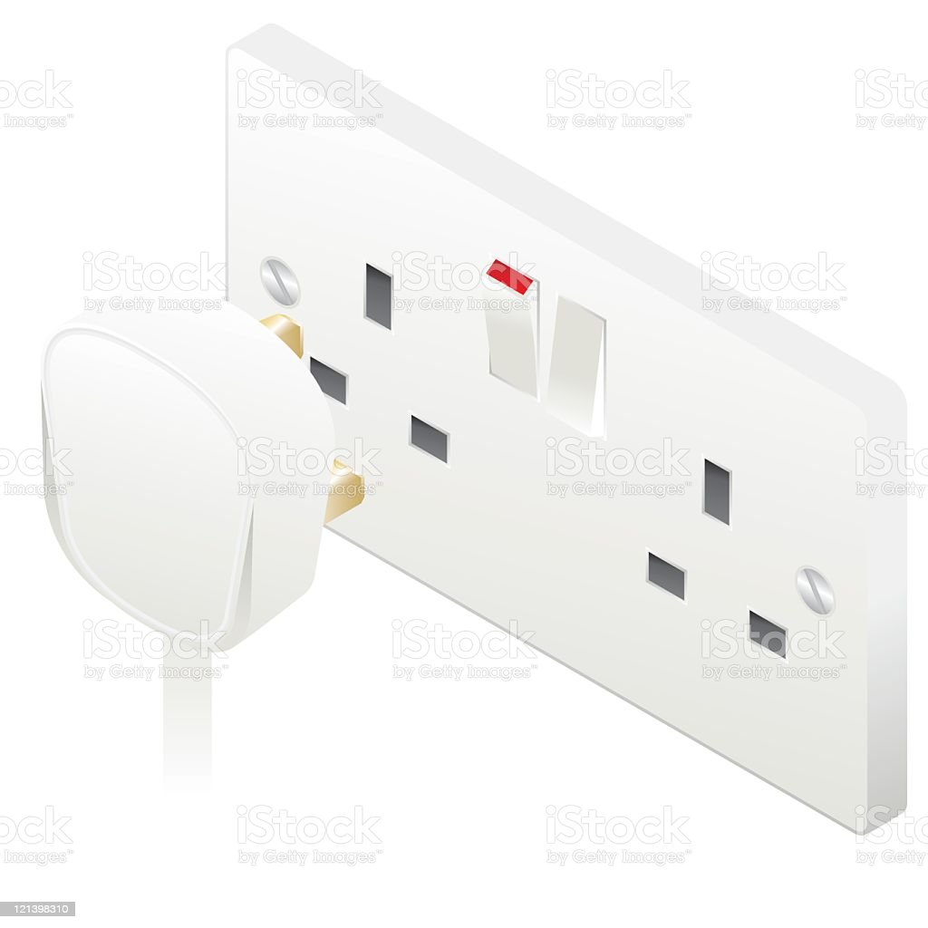 UK Plug and Socket royalty-free uk plug and socket stock vector art & more images of color image