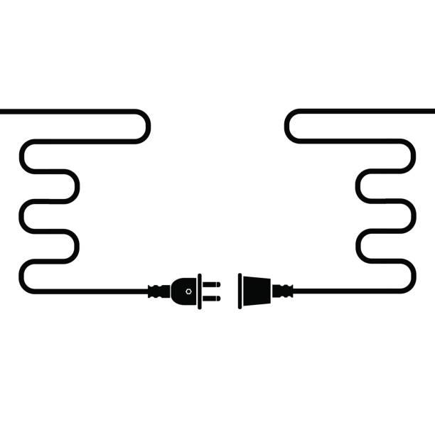 Plug and Socket vector art illustration