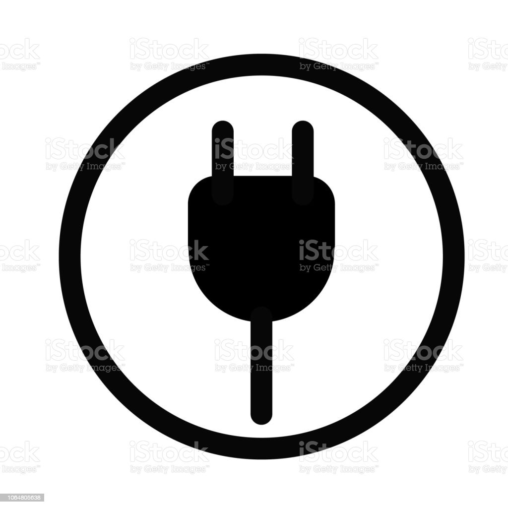 plug in icon on white background. flat style. plug in icon for your web site design, logo, app, UI. electric plug symbol. vector art illustration