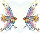 Mechanical angel fishes in love, Pisces (Astrology Sign)