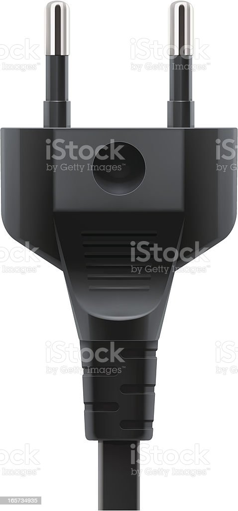 Plug vector art illustration