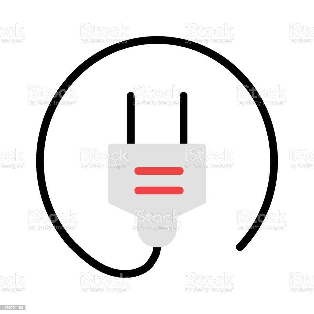 plug vector art illustration