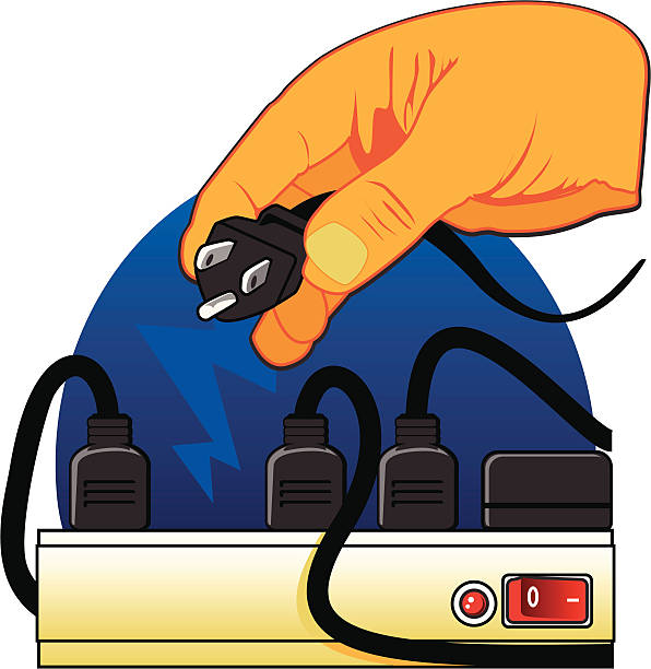 illustrations, cliparts, dessins animés et icônes de multiprise pour brancher - rallonge électrique