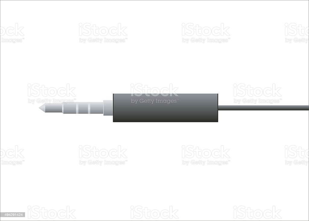 plugin and cable vector art illustration