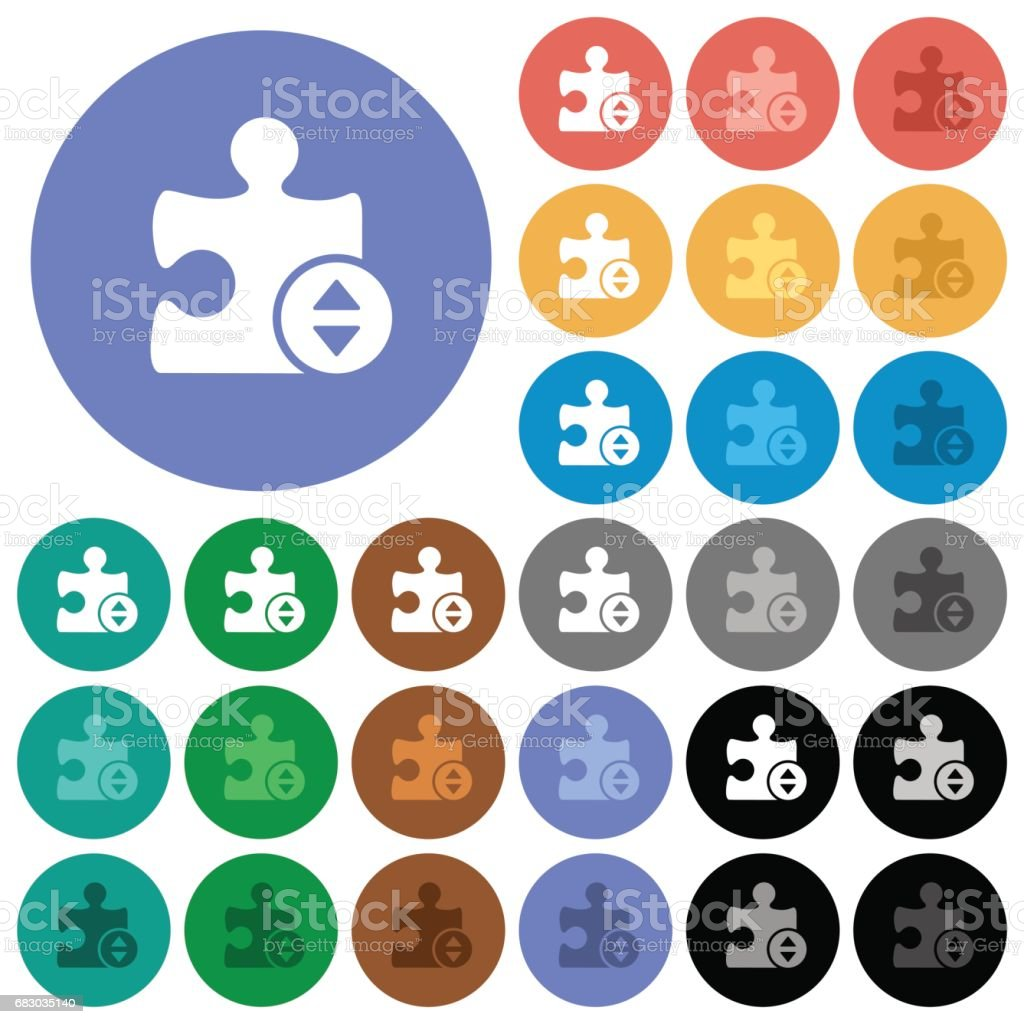 Plugin fine tune round flat multi colored icons royalty-free plugin fine tune round flat multi colored icons stock vector art & more images of adjusting