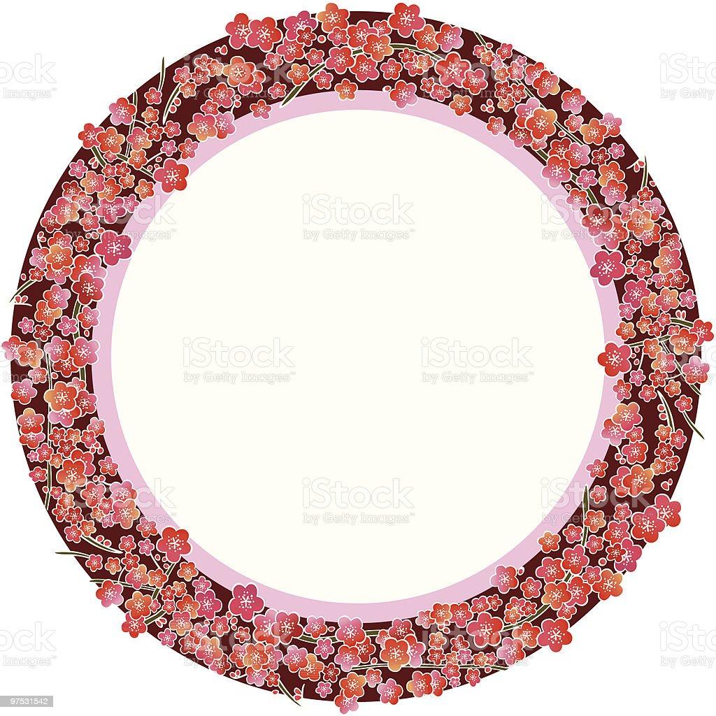 plum blossom frame royalty-free plum blossom frame stock vector art & more images of circle
