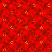 Plum Blossom Seamless Pattern. EPS10.