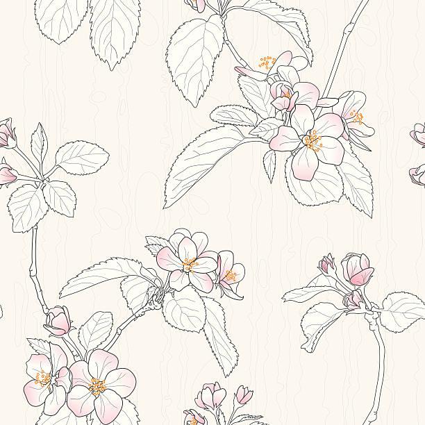 桃の花 イラスト素材 Istock