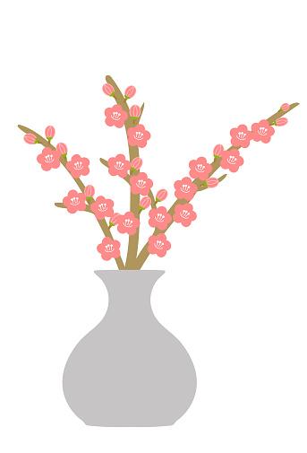 Plum flower arrangement