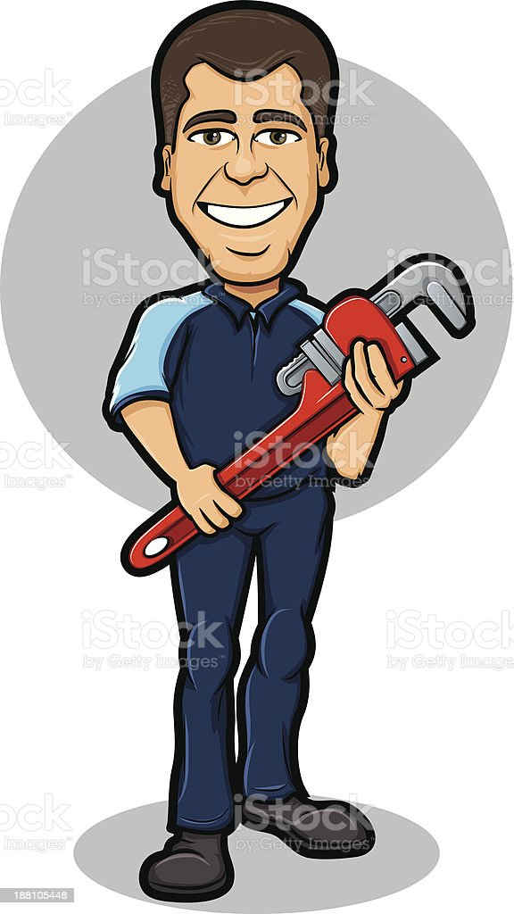 Plumber Character vector art illustration