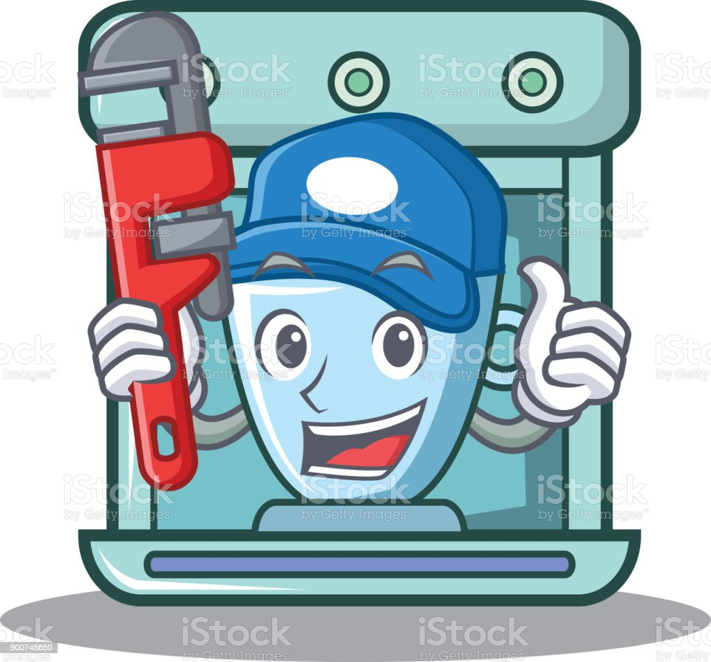 Plumber Coffee Maker Character Cartoon Stock Vector Art & More ...