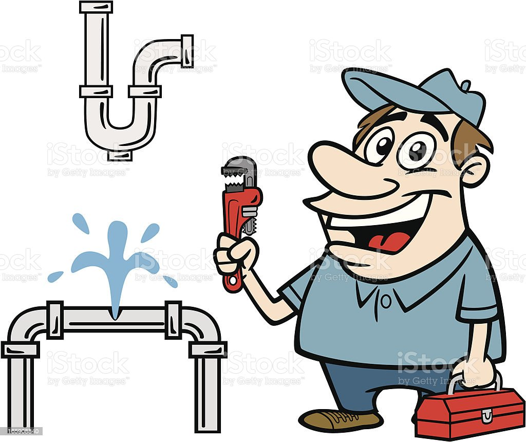 Plumber Fixing Leak Stock Vector Art Amp More Images Of