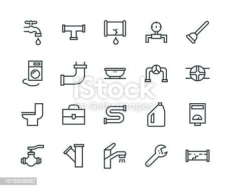 Plumber Icon Set