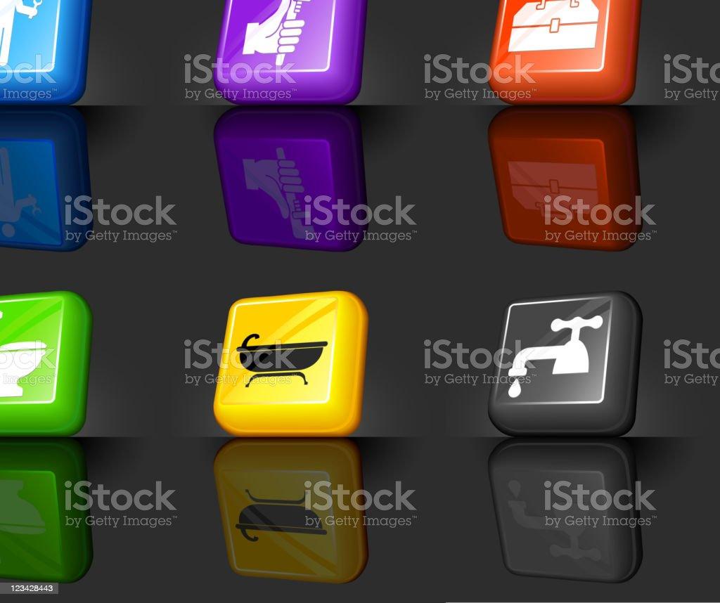 Plumber internet royalty free vector icon set royalty-free stock vector art