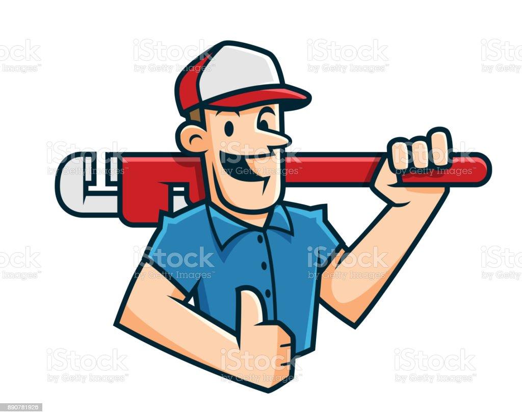 royalty free handyman logo cartoon clip art vector images rh istockphoto com handyman clip art free online handyman clip art free online