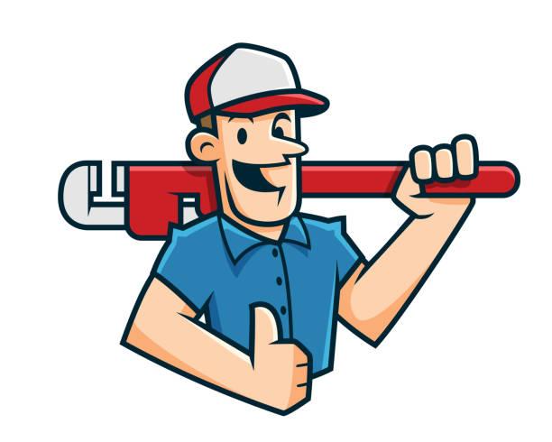 177 Cartoon Of A Plumbing Logo Design Illustrations Royalty Free Vector Graphics Clip Art Istock
