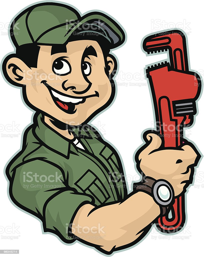 Plumber Mechanic royalty-free plumber mechanic stock vector art & more images of adult