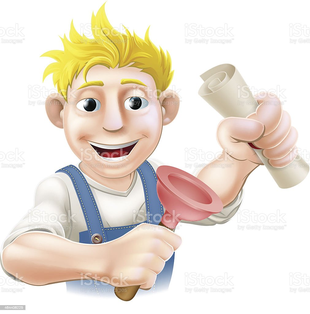 Plumber or janitor with certificate royalty-free plumber or janitor with certificate stock vector art & more images of accessibility