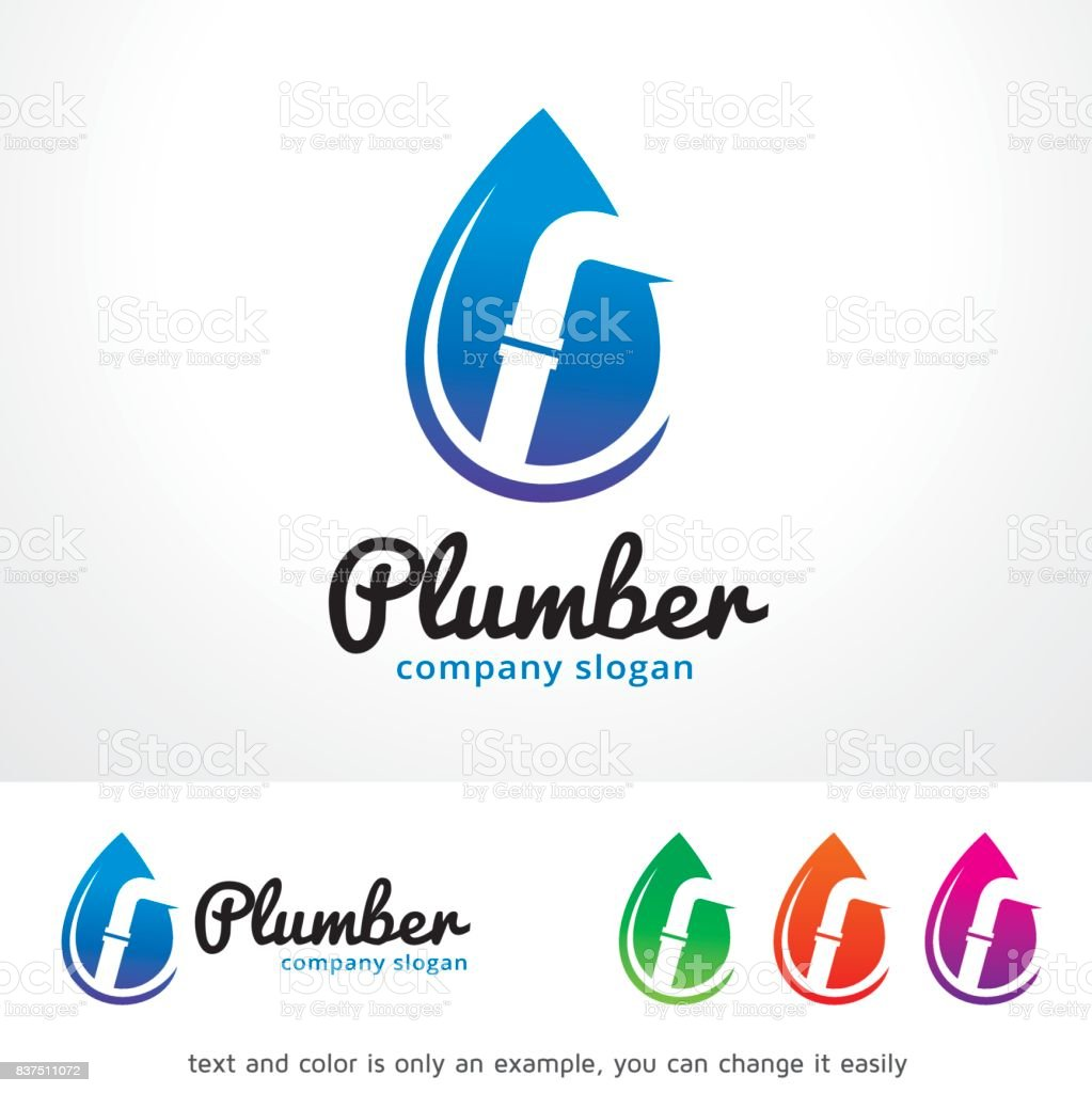 Plumber Symbol Template Design Vector, Emblem, Design Concept, Creative Symbol, Icon vector art illustration