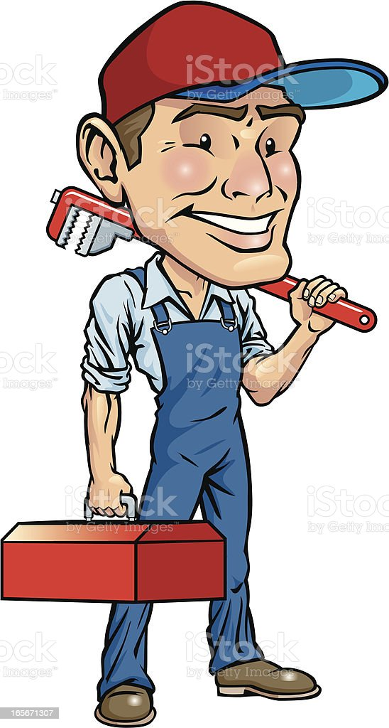 Plumber royalty-free plumber stock vector art & more images of bib overalls