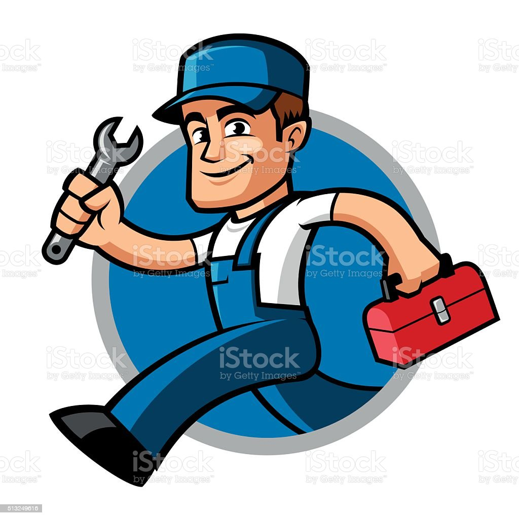 Plumber vector art illustration
