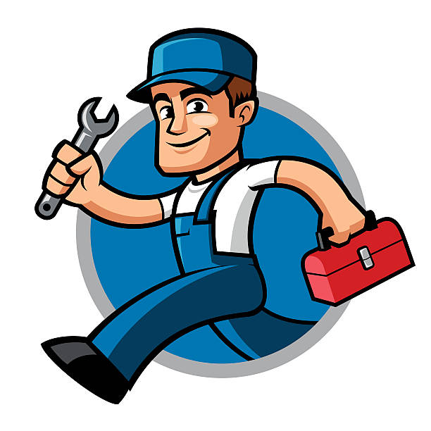 plumber - mechanic stock illustrations, clip art, cartoons, & icons