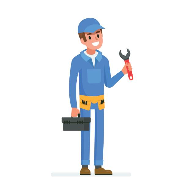 plumber - plumber stock illustrations, clip art, cartoons, & icons