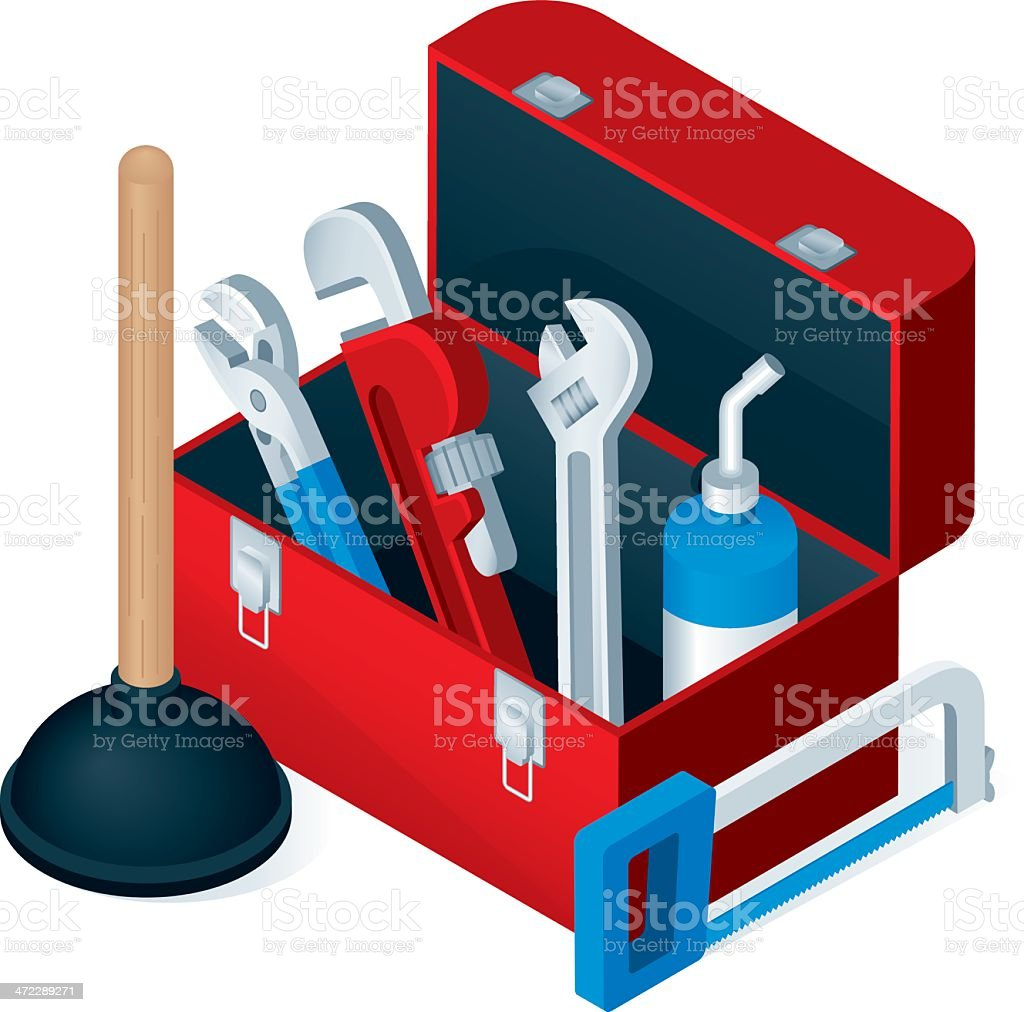 Plumber's Toolbox royalty-free plumbers toolbox stock vector art & more images of adjustable wrench