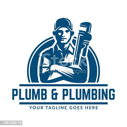 istock Plumbing design or icon template, easy to customize 1061536116