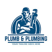 Plumbing design or icon template, easy to customize