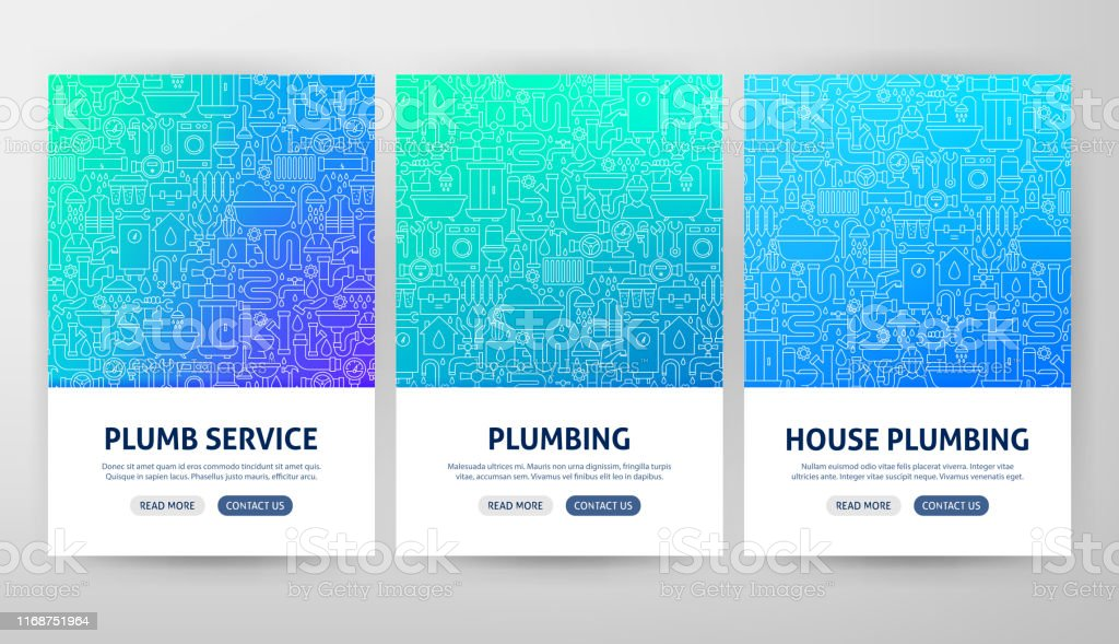 Plumbing Flyer Concepts Stock Illustration - Download Image