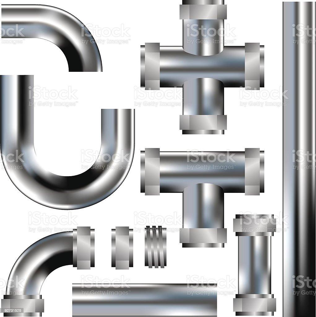 Plumbing pipe seamless pattern kit royalty-free stock vector art