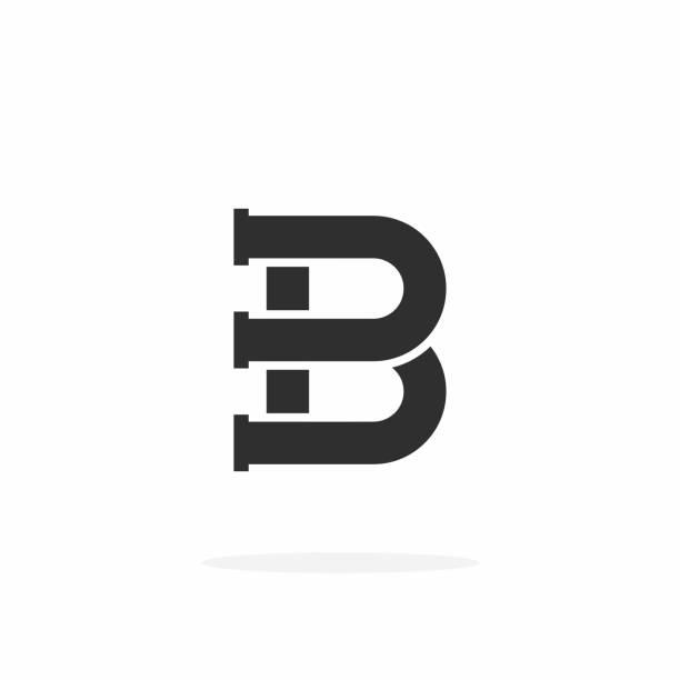 Plumbing Pipe Vector Letter B vector art illustration