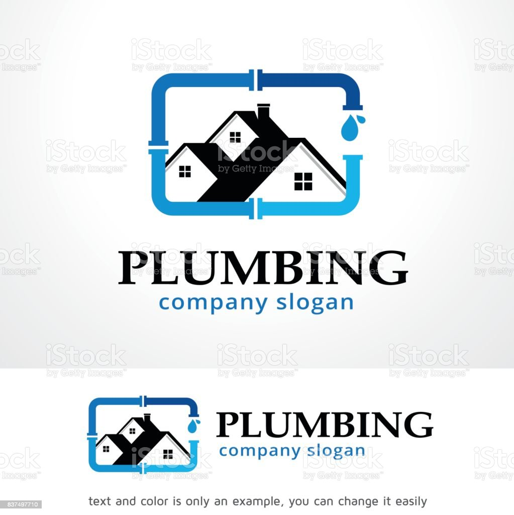 Plumbing Symbol Template Design Vector, Emblem, Design Concept, Creative Symbol, Icon vector art illustration