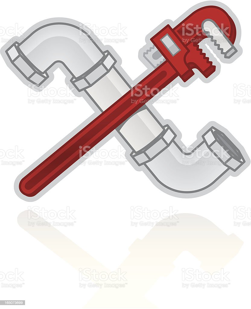 Plumbing vector art illustration