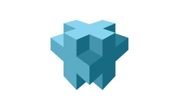 Plus 3D logovectorkunst illustratie