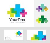 Plus Color vector illustration