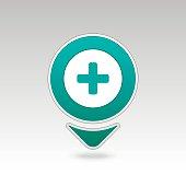 Plus, Hospital ,Pharmacy, Clinic pin map icon.